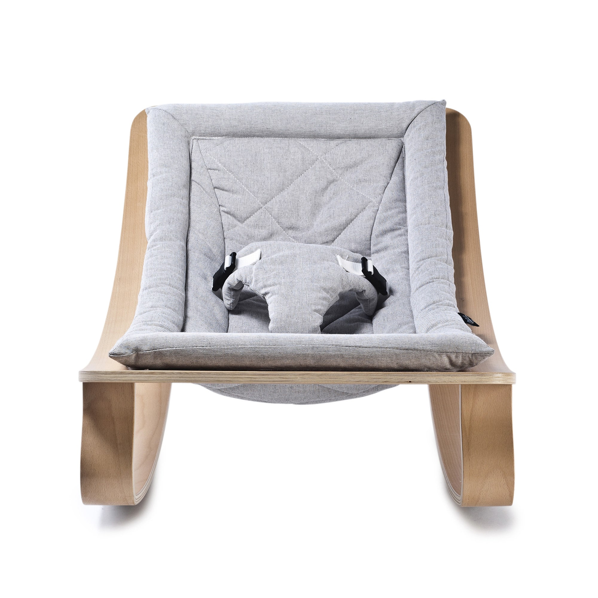 Baby Rocker Levo With Sweet Grey Cushion Charlie Crane