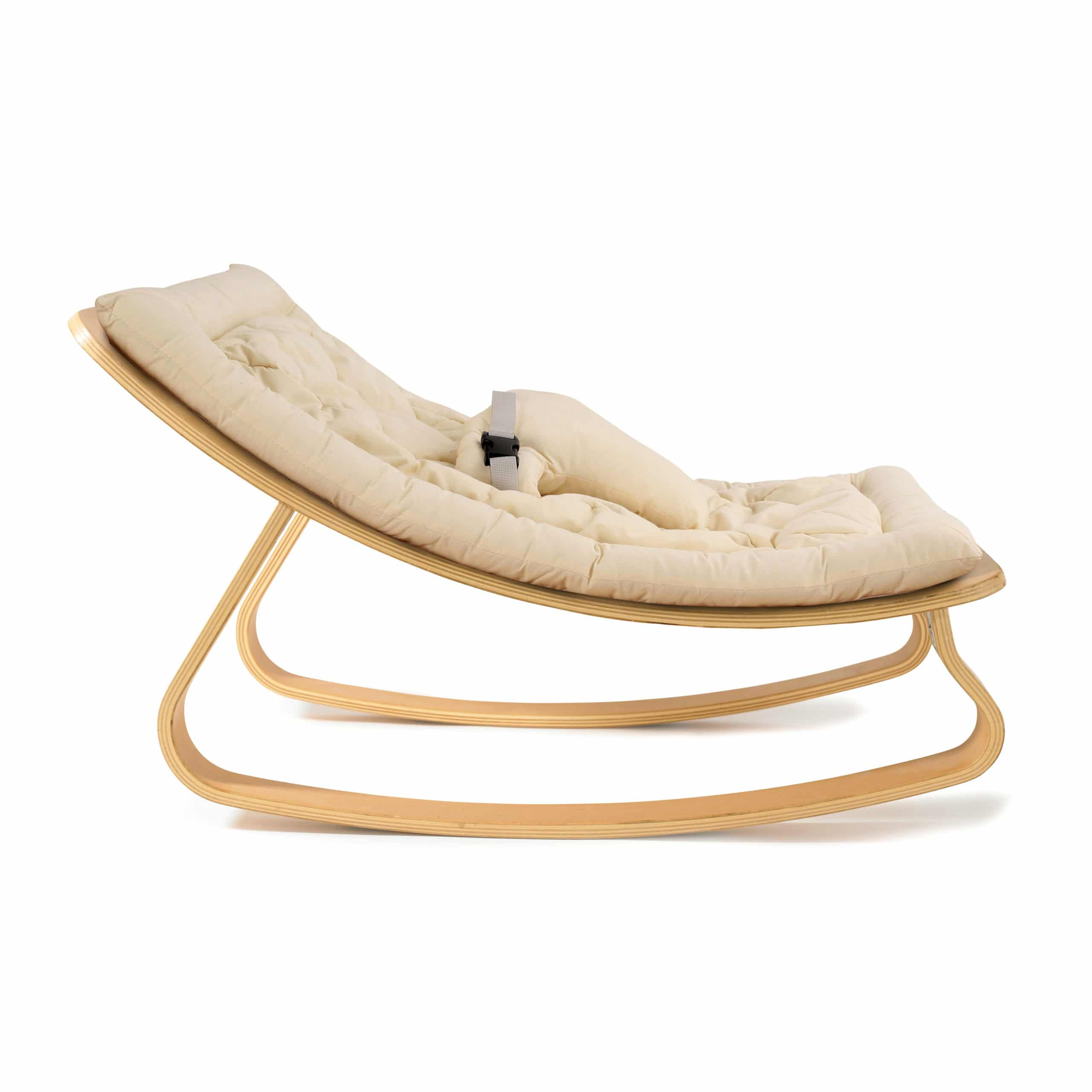 New Baby Rocker Levo With Organic White Cushion