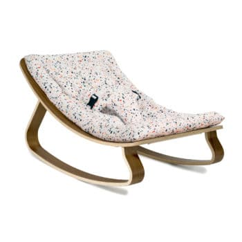 Enjoyable Baby Rocker Levo In Walnut With Milinane Terrazzo Spiritservingveterans Wood Chair Design Ideas Spiritservingveteransorg